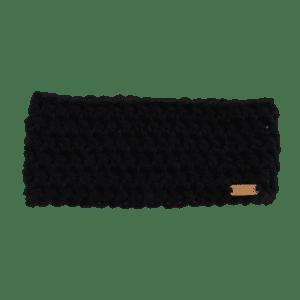 Anderson Ear Warmer in Black Crochet Salem Style