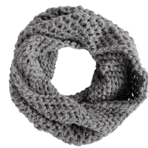 gray cowl scarf