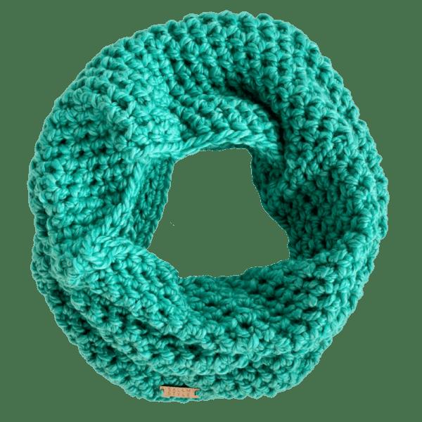 mint green cowl scarf