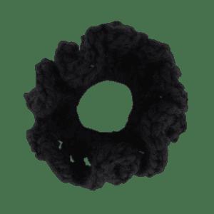 black crochet scrunchie salem style