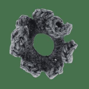 Gray Crochet Scrunchie
