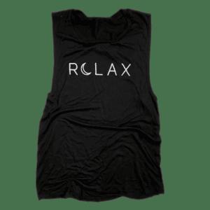 Relax Black Yoga Tank Salem Style