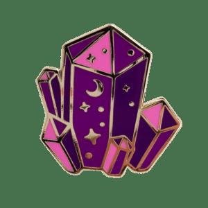 Crystal Night Enamel Pin Salem Style