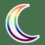 Rainbow Pride Moon Sticker
