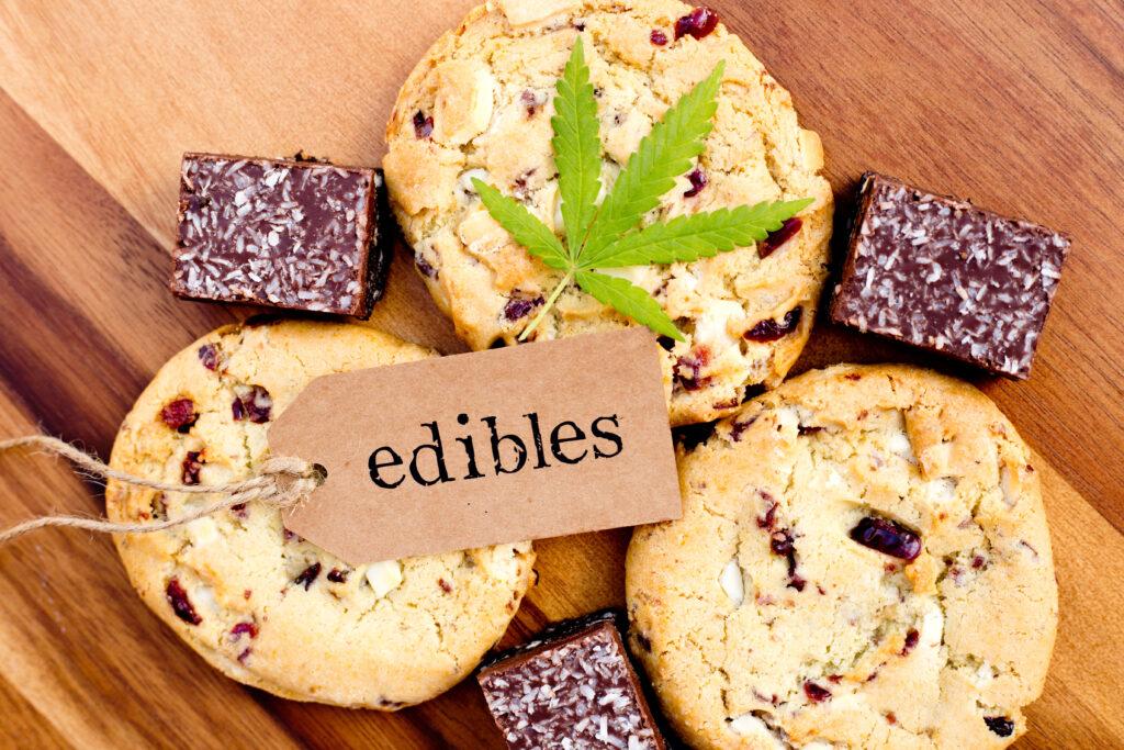 cannabis edibles as cookies and brownies