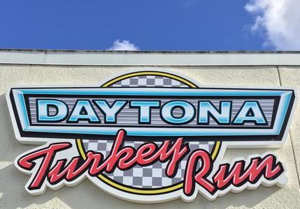 Daytona Turkey Run Sign