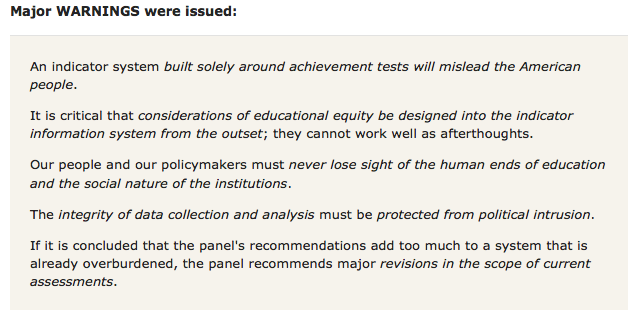 Education Counts: Measure What Matters