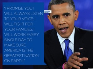 Quote from the presidential debates. www.hlntv.com