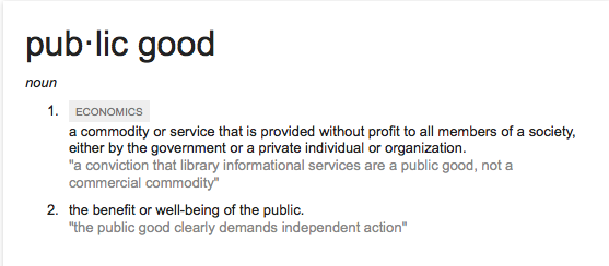 If public education is a public good, what choice does the public have in deciding its direction?