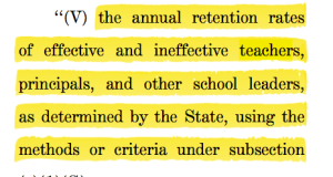 The federal government is by no means out of the teacher evaluation business.