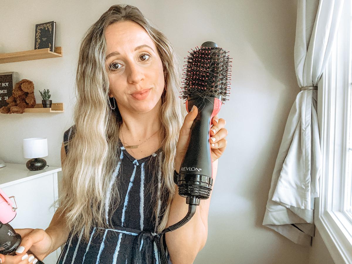 revlon one-step hair dryer and volumizer beachy waves tutorial