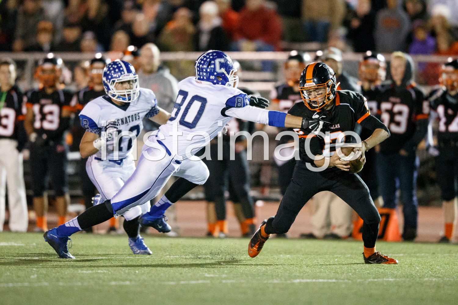 The Douglas Quarterback was elusive all night extending quite a lot of plays and converting them into big gains for the Tigers