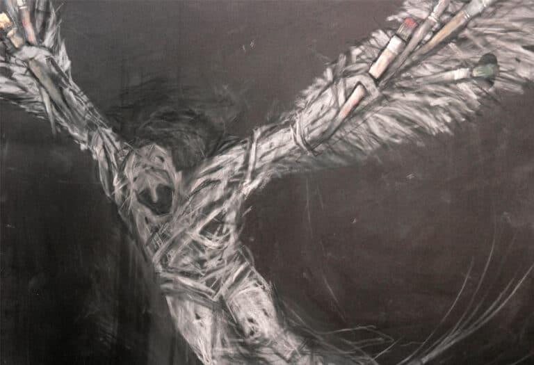 """איקרוס, 2015, אקריליק על בד, 100 על 70 ס""""מ"""