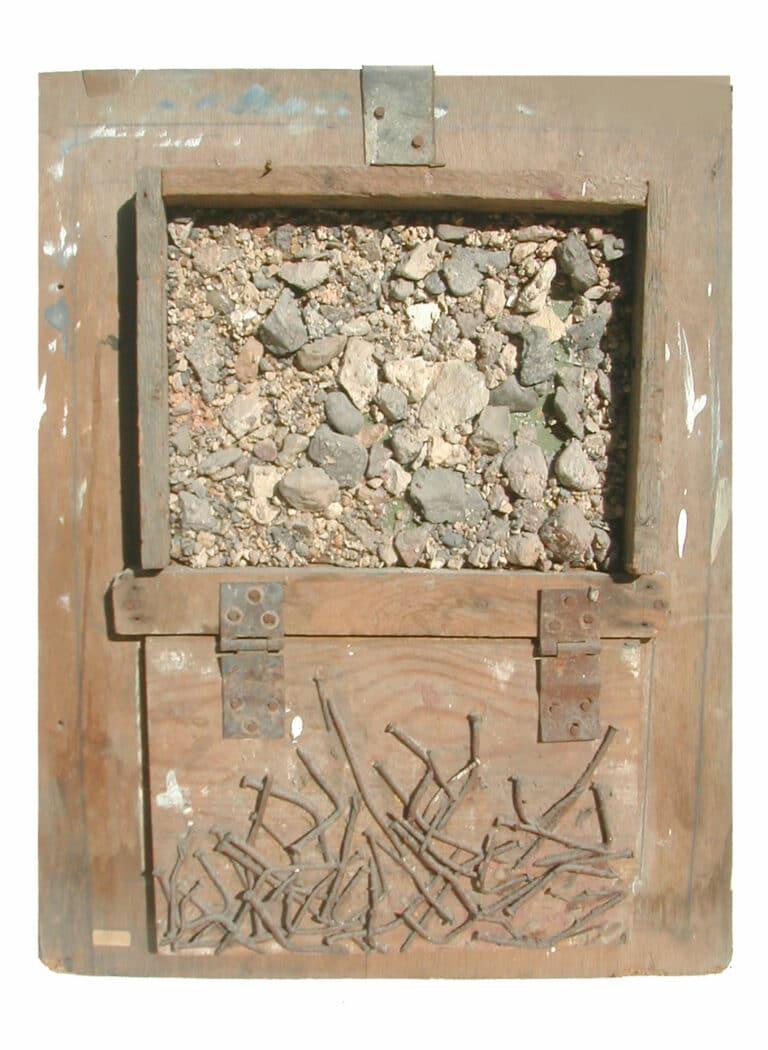 ממצאים, 1978, אבנים, לוחות עץ, 70 על 50 ס''מ, סדנת אמנים, סנטה קטרינה, סיני