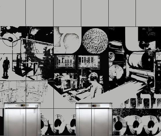"""הדפסה על לוחות אלומניום, בית ידיעות אחרונות, ראשל""""צ, פרט, 2016"""