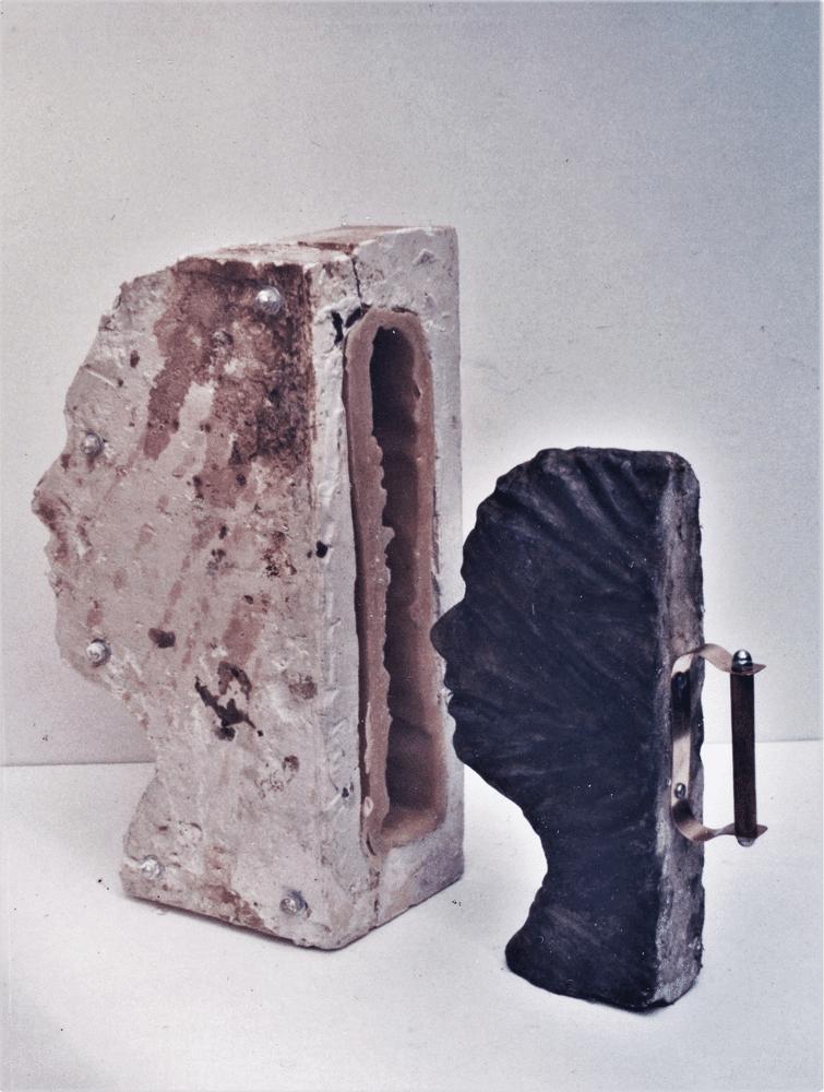 תבנית נוף, 1997, תבנית יציקה ויציקת ברונזה, 15 על 40 על 15 ס''מ