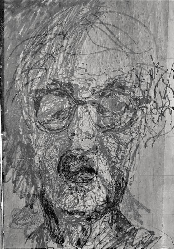 סדרת הדפסי מוקוליתו על נייר שחור, 2018, 70 על 50 ס''מ [סדנת ההדפס, תל אביב]