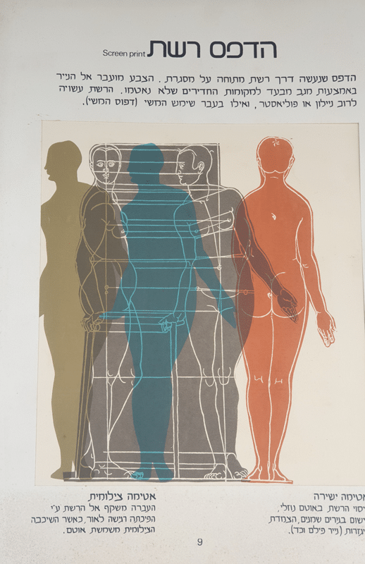 הדפס רשת (משי), 1978, הדפסת צבע דרך רשת 30 על 40 ס''מ {מאוסף מוזיאון ישראל]
