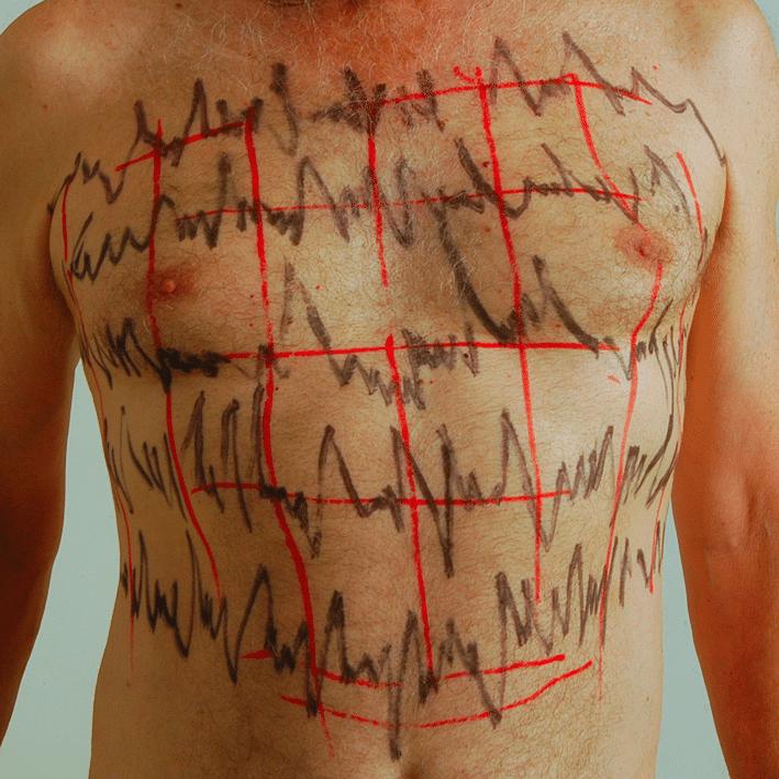 לב חלה, 2006, תצלום דומם מתוך מיצג, בית האמנים, תל אביב, [צילום: רן ארדה]