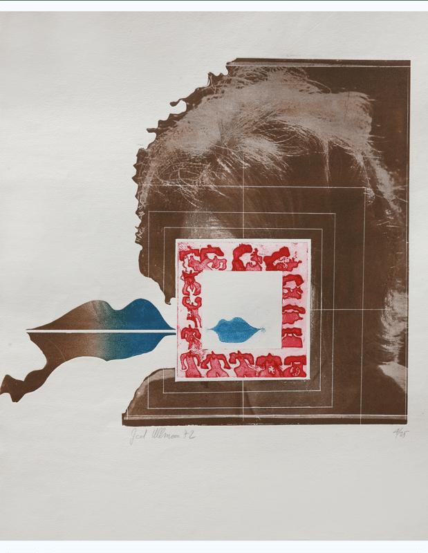 שפתיים כחולות, 1972, תצריב צילומי, 65 על 50 ס''מ [הוצג בבית האמנים ירושלים]