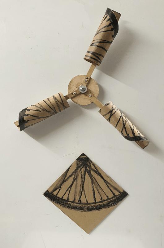 שבשבת מגולגלת, 2018, הדפסי קולוגרף, 140 על 70 ס''מ