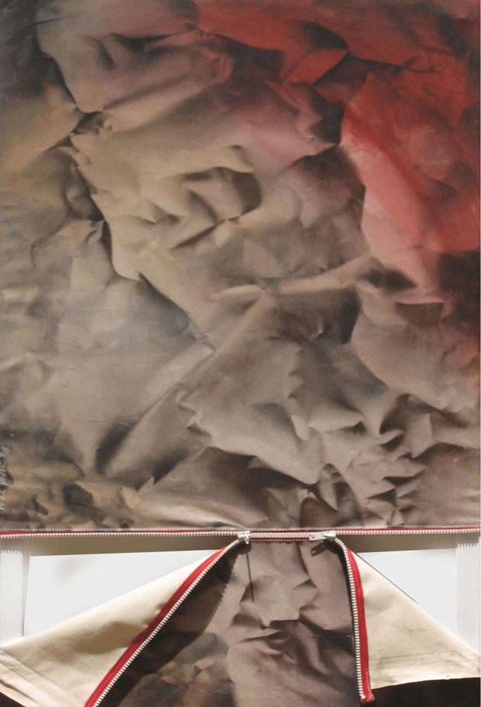 טופוגרפיה, 2008, אקריליק ותרסיס על קנווס, 80 על 120 ס''מ, אוסף עופר חווה, ברלין