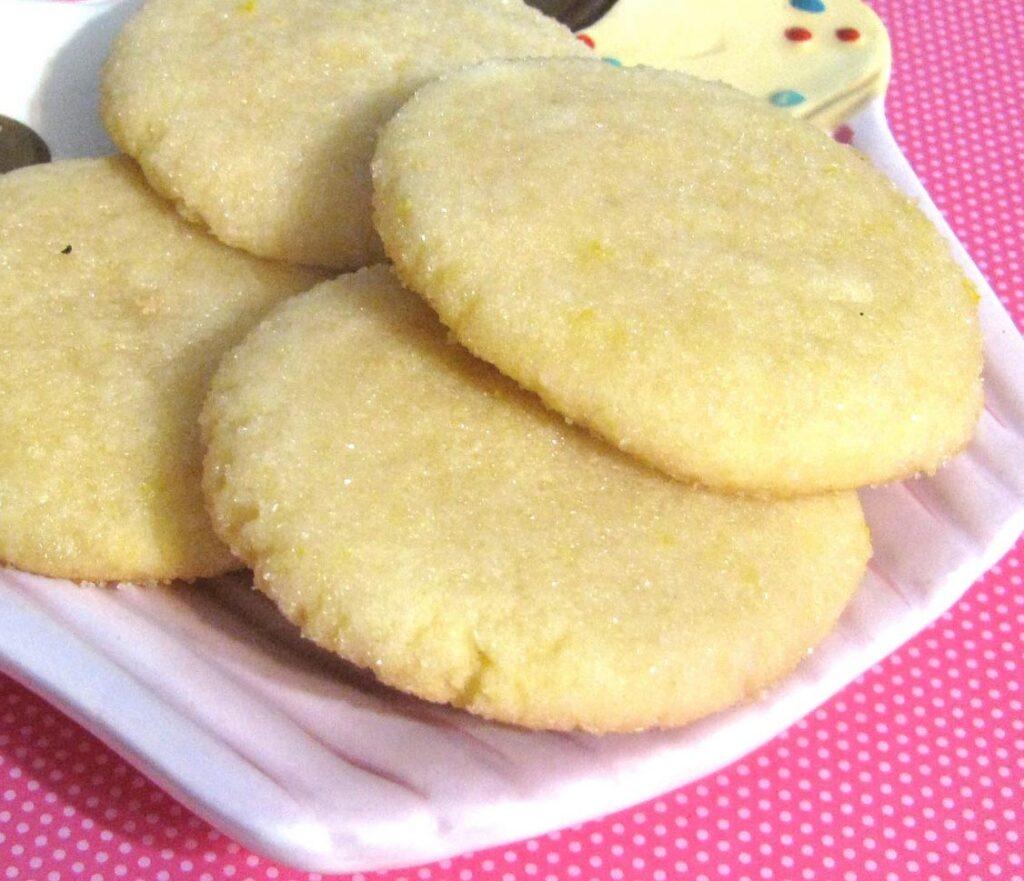 Close Up Lemon Glazed Cookies