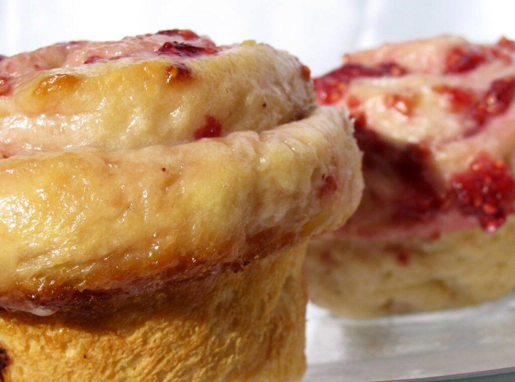 Raspberry Honey Buns Recipe Photo