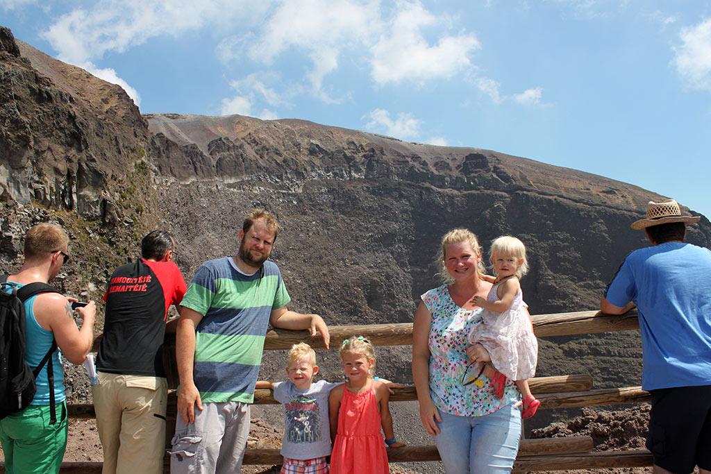 The summit of Mt. Vesuvius!