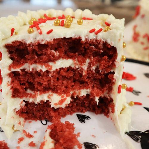 Individual Mini Red Velvet Cake