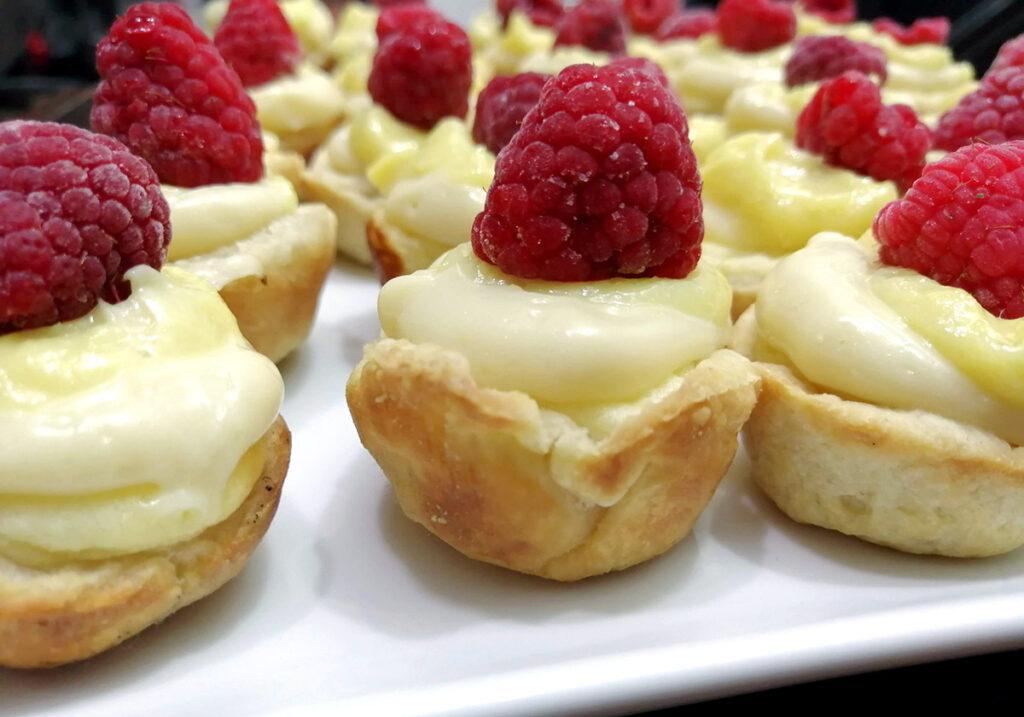 Raspberry Lemon Curd Tartlettes