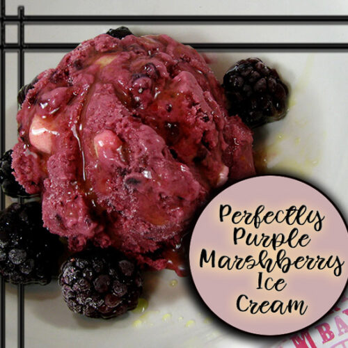 The Best Ice Cream You'll Ever Make: Perfectly Purple Marshberry Ice Cream Recipe