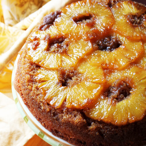 Is the Secret to Making the Best Pineapple Upside Down Cake Double Brown Sugar Caramel?