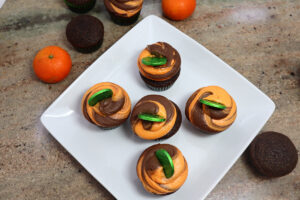 Orange Chocolate Irish Cupcakes