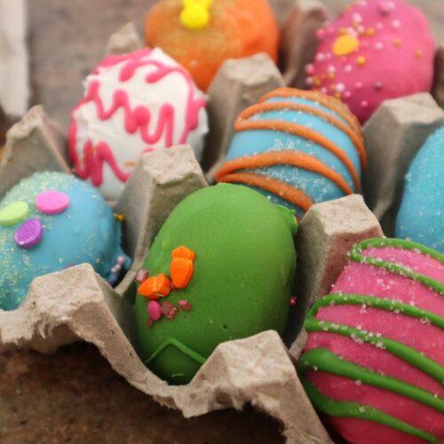 Dyed Colorful Easter Egg Cake Bites