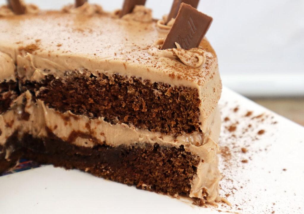 Lindt Chocolate Cake with Baileys Irish Cream Frosting