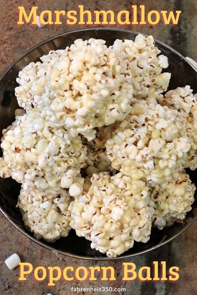 Marshmallow popcorn balls pin