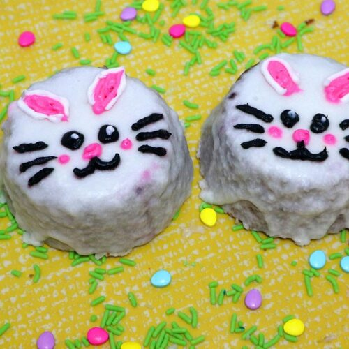 Easter Bunny Cake Faces
