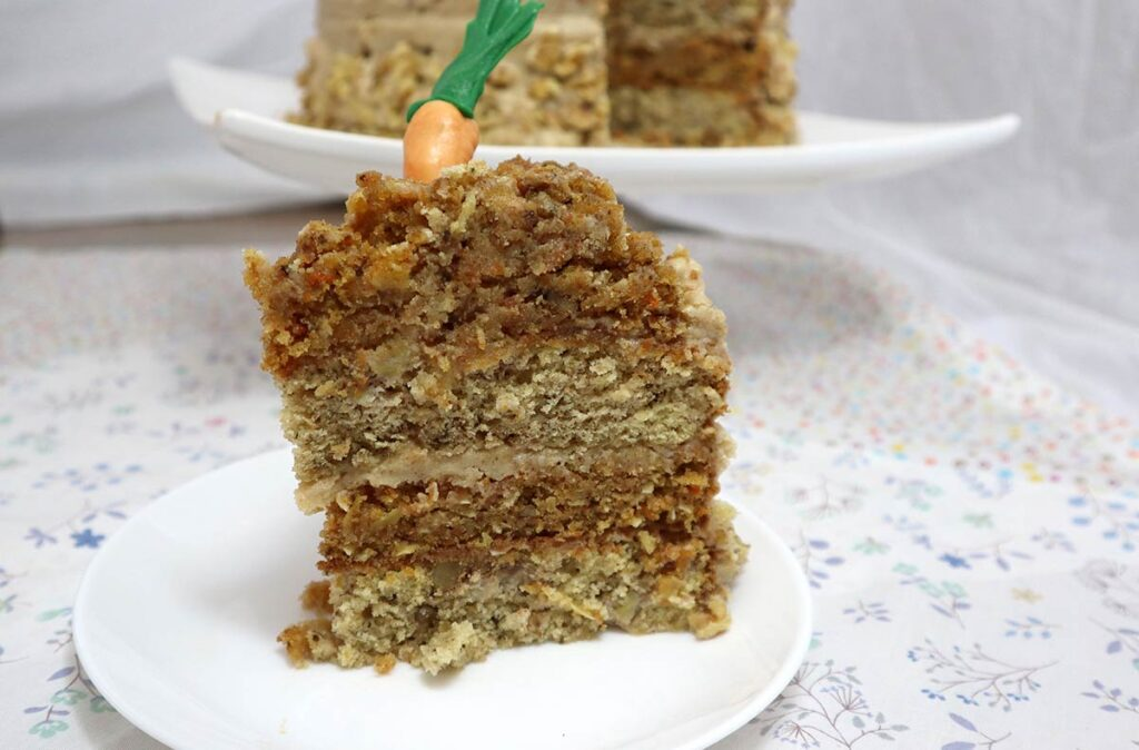 Carrot and Banana Cake Slice