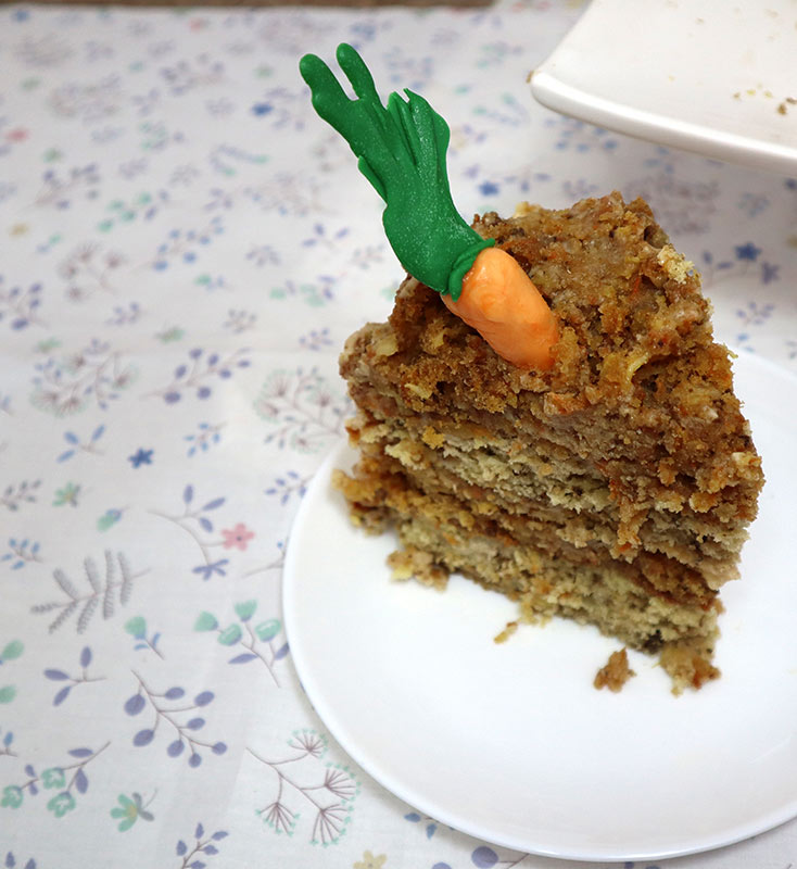 Slice of Carrot and Banana Cake