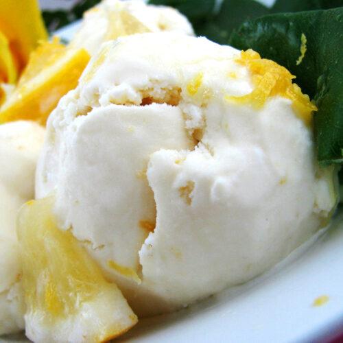 Fresh Homemade Lemon Ice Cream that Tastes like Real Frozen Lemonade