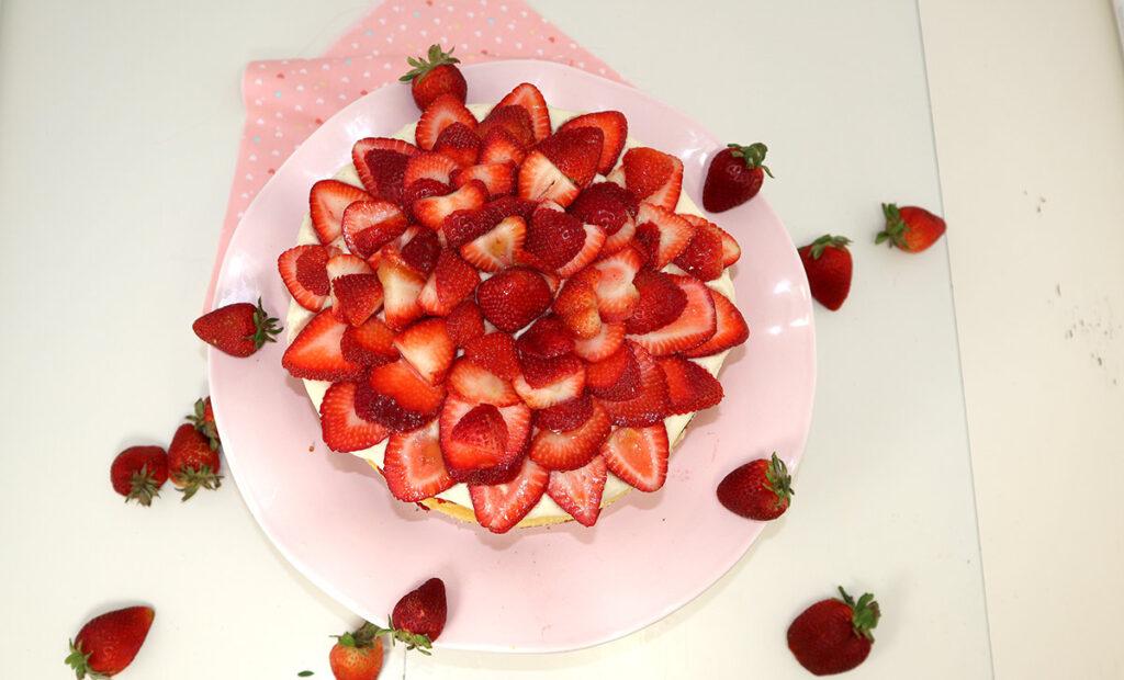 Strawberries Strawberry Cheesecake Cake