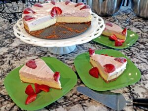 This Strawberry Ice Cream Cheesecake Recipe Will Become Your New Favorite One and Only