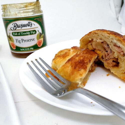 Recipe Cut up croissant sandwich