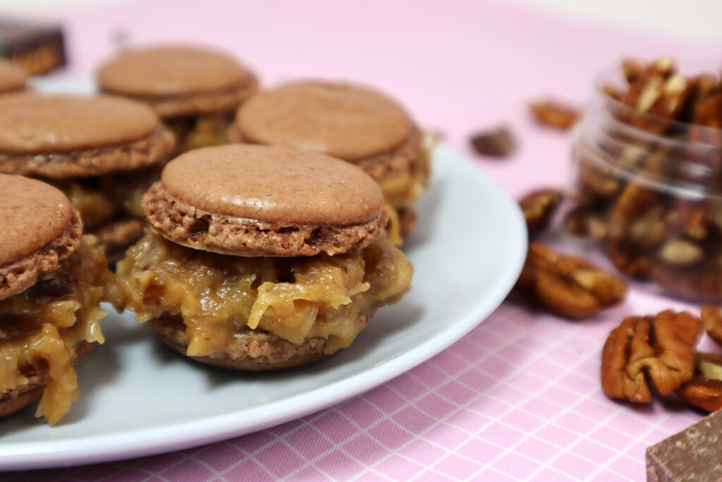 Chocolate Coconut Macarons