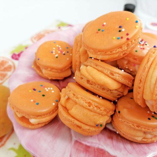 Recipe photo of orange macarons