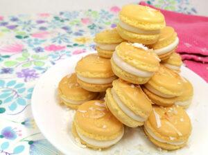 Cover Photo of Pina Colada Macarons