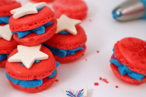 Red White and Blue Macarons Recipe