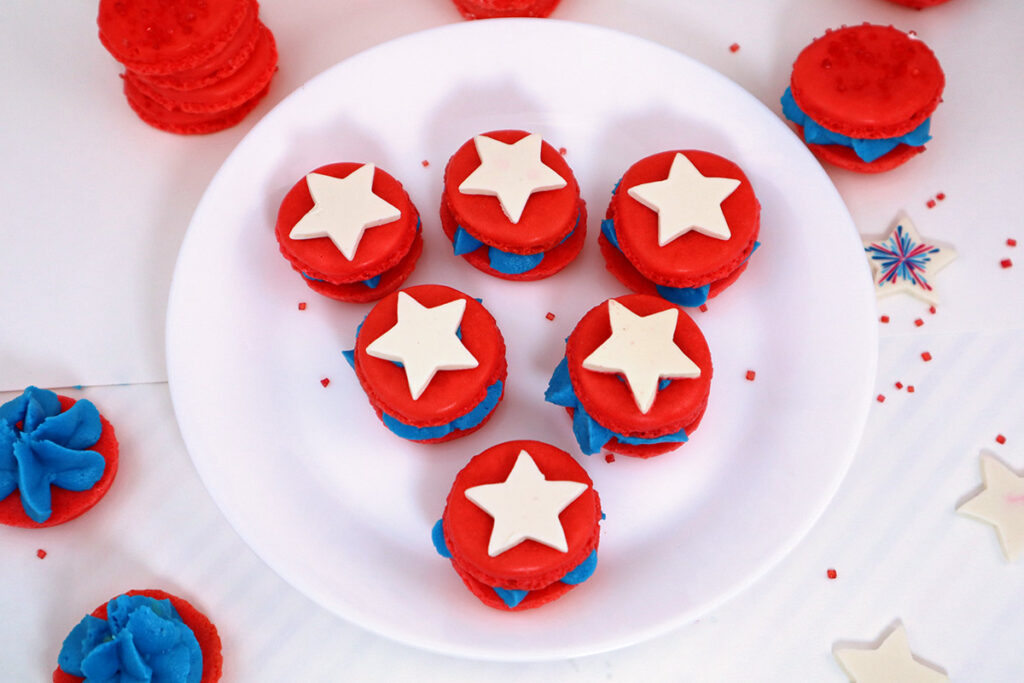 Captain America Macarons