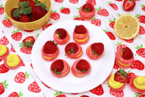 Cover Photo of Strawberry Lemon Macarons